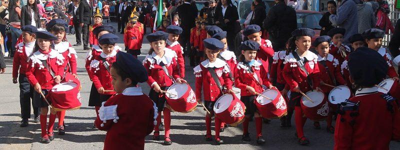honores a la bandera con la participación de instituciones educativas del nivel preescolar