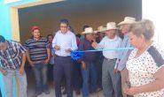 Con recursos del impuesto predial gobierno municipal reconstruye el Salón Ejidal de ejidatarios de Tetillas