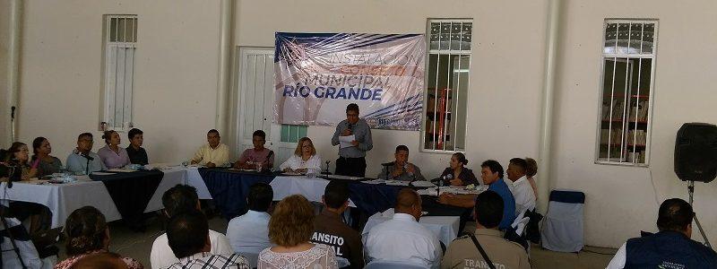 Instalan Consejo Municipal de Seguridad en Río Grande