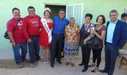"""l club de migrantes """"Todos Somos Rio Grande"""" y autoridades municipales construyes casa a Doña Enriqueta"""
